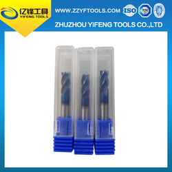 High quality solid carbide end mills / China manufacturer selling good price 4 flute square end mills