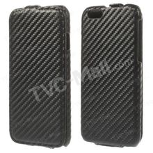 2014 New Cuatom Carbon Fibre Vertical Leather Flip Case for iPhone 6