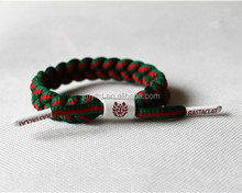 New Shoelace Knitted Bracelets Unsex Adjustable Handmade Sports Bracelet World cup Basketball Team Matching Colors