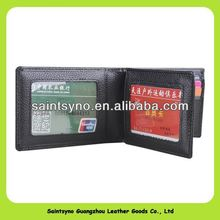 13131A Simple but high quality leather plastic id card holder