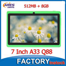 "Green Color Kids Tablet 7 Inch Quad Core 512MB/8GB WIFI 3G Bluetooth Cheap 7"" Android Tablet PC"
