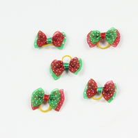 Christmas Series Bowknot Varied Colors Handmade Dog Bows Pet Hair Clips Dog hair accessories Pet grooming product V1218