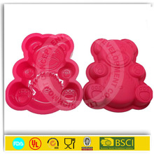 custom-made funny silicone big bear shape cake mold
