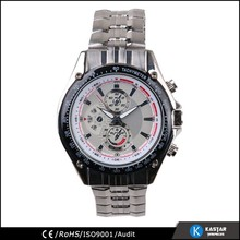 luxury man watch, quartz stainless steel back watch