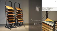S-003 Flooring display rack design products made of metal
