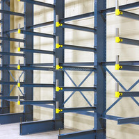 storage warehouse multi tier bar rack,cantilever steel rack and shelving