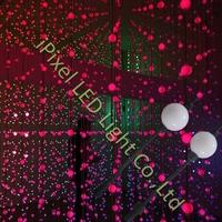 DMX 360 degree led ball display 50mm 3D dmx led ball string