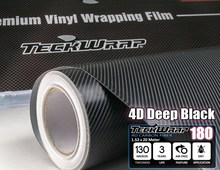 TeckWrap Car Stickers High Quality 1.52*20m Car Body 4D Carbon Fiber Vinyl Sheet with Air Bubble Free