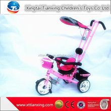 China shop online wholesale Steel Material Good Baby Tricycle, Kids Trike Bike With Canopy