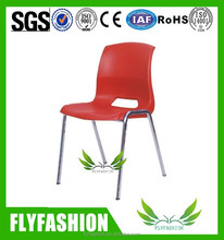 Modern design stackable plastic table with steel legs