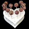 wholesale heart shape plastic lollipop candy cake pop display stand