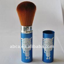 natural retractable blush brush