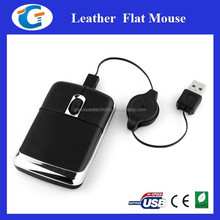 Computer Accessories Wired Optical Leather Mouse with Brand Printing