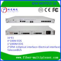 2STM-1 16 E1 fxo/fxs E&M V.35 SDH over fiber PDH/SDH terminal multiplexer