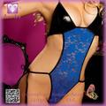 Lencería erótica sexy CALIENTE para las mujeres de encaje sin espalda teddyPP5305 las mujeres la ropa interior atractiva de pelu