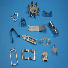 China custom stamping connecting spring steel clip frame