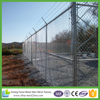 Heavy duty galvanized chain link fence from shanghai / used chain link fencing