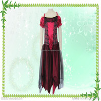 Fashion wholesale halloween party cosplay red rose princess dress for children