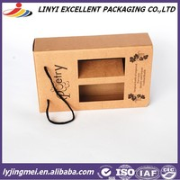 Red wine packing paper box with window