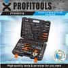 "121pcs 1/4""&3/8""&1/2"" high quality car repair tool kit"
