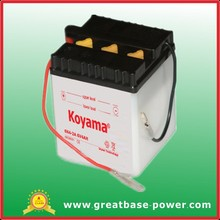 High Starting Performance battery 6N4-2A (6V4AH)Dry Charged Vented motorcycle battery