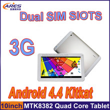 large stock 10 inch mtk8382 quad core os android 4.4 kit kat tablet pc phablet 1gb 8gb hd 1024x600 built-in gps ship by dhl