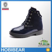 HOBIBEAR 2015 high quality fashion winter kids leather martin boots children roman boots