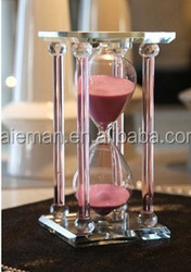 Teacher's day gifts crystal hourglass furnishing articles