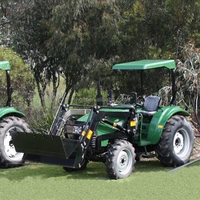 TZ-4 30-55HP 4WD Garden Tractor Front end loader with 4in1 bucket