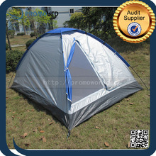 1-2 Person Silver Coating Sun Screen Outdoor Hiking And Camping Tent