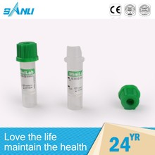 OEM acceptable various type vacuum green cap blood tube heparin