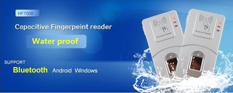 HF-7000 Беспроводная Связь Bluetooth Биометрический Считыватель Отпечатков Пальцев