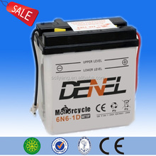 2014 hot sell the king of product 6v 6ah conventional lead acid motorcycle battery durable