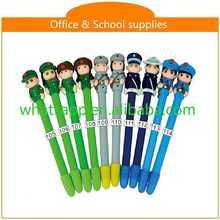 Hot sale new design cheap polymer clay ball pen drum stick pen