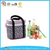 2015 High quality durable nylon cooler bag food lunch bag portable travel dot pattern thermal bag