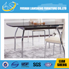 GLASS TABLE TOP IRON FRAME LEG DINING TABLE TI6002#
