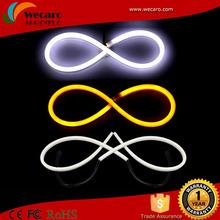 Hottest selling 30cm/45cm/60cm/85cm white+yellow led flexible drl,led strip tube,45cm dual color led flexible tear light