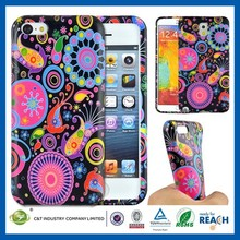 C&T Gorgeous flowers deisngn skin for iphone 5s soft silicone case