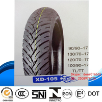 2015 hot sale high quality low price XD-105 autocycle TL Ciclomotor TL pneu 90/90-17 motorcycle china tire