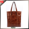 Shiny Brown leather handbag tote real leather handbags sale handtasche rot leder high end handbag