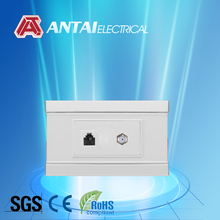 American style ABS TV Tel socket outlet