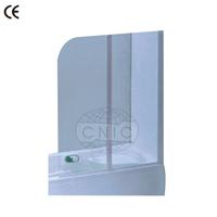 Simple design folding bathtub shower screen