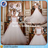2014 luxurious Organza Bridal Gown With Beaded Belt