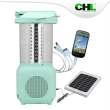 Guangdong CHL solar 112 led camping lantern with mobile phone charge