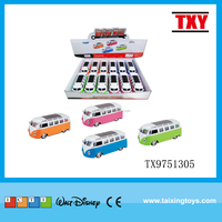 wholesale cheap price New and Hot Kids toy Alloy Die-cast pull back Bus car