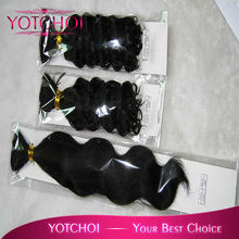 Hot!! Good quality Brazilian virgin hair, machine made weft, tangle and shedding free, many in stock