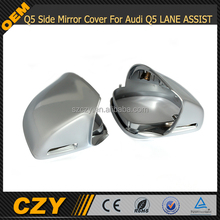Chrome alu matt alloy full replacement mirror Q5 Side Mirror Cover For Audi Q5 LANE ASSIST