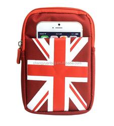 Multipurpose Man & Woman Outdoor Sports Universal Cross-body Cell Phone Case Mini Canvas Shoulder Bag