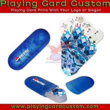famous brand playing card packaged with plastic tube box