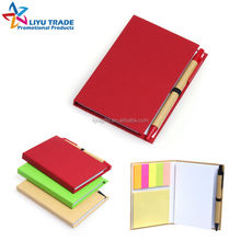 custom, advertising colorful eco blank notepad and pen